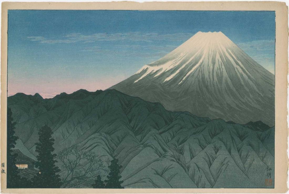Shotei -- Mt Fuji from Hakone Woodblock