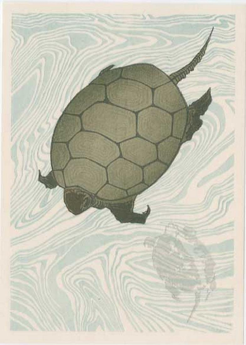 (After) Hokusai -- Floating Carp Woodblock