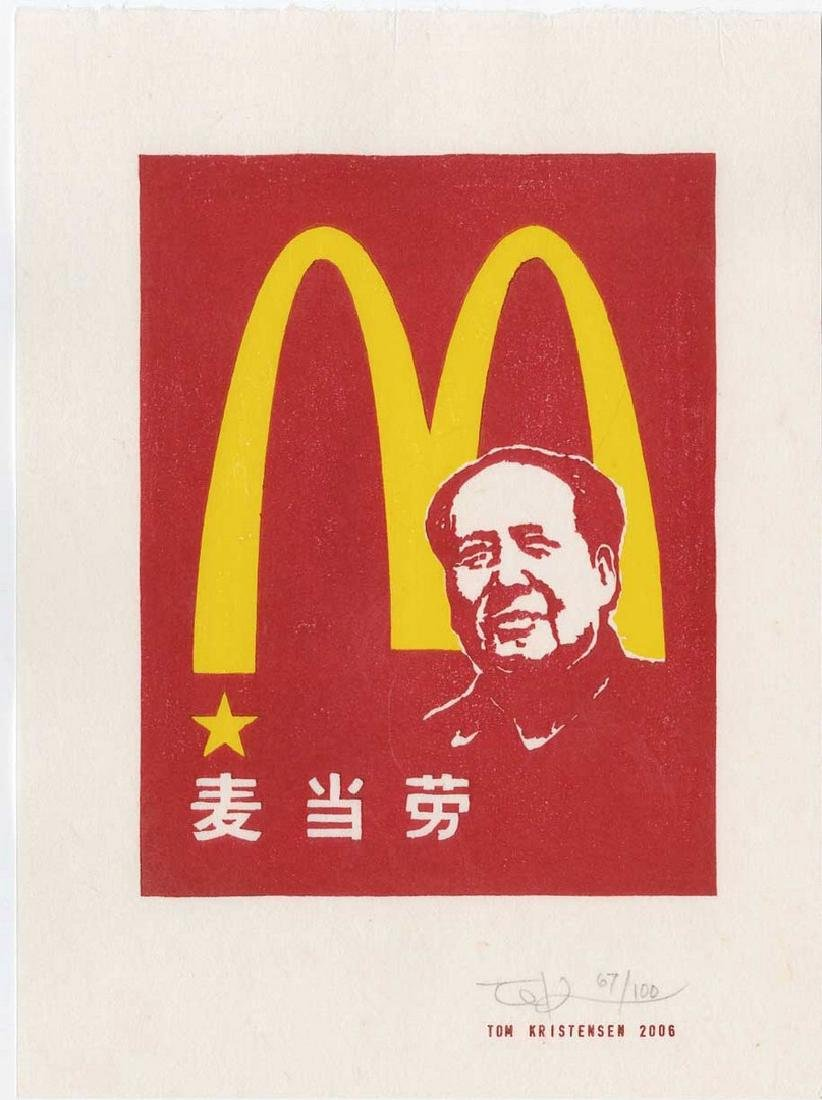 Tom Kristensen - M is for Mao (#67/100) Woodblock