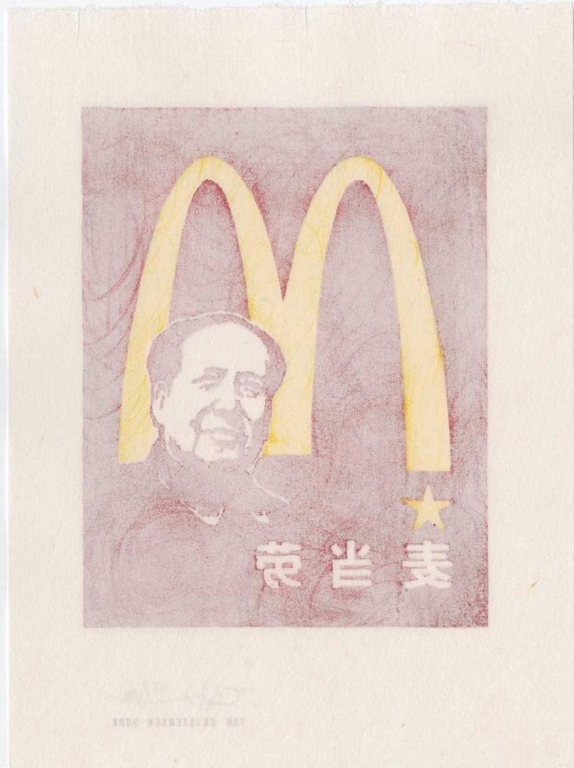 Tom Kristensen - M is for Mao (#67/100) Woodblock - 2