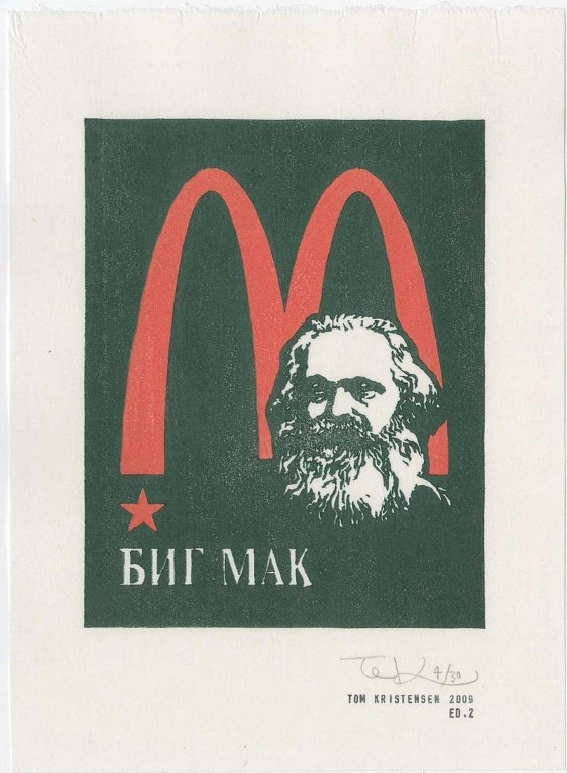 Tom Kristensen - M is for Marx (#4/30) Woodblock