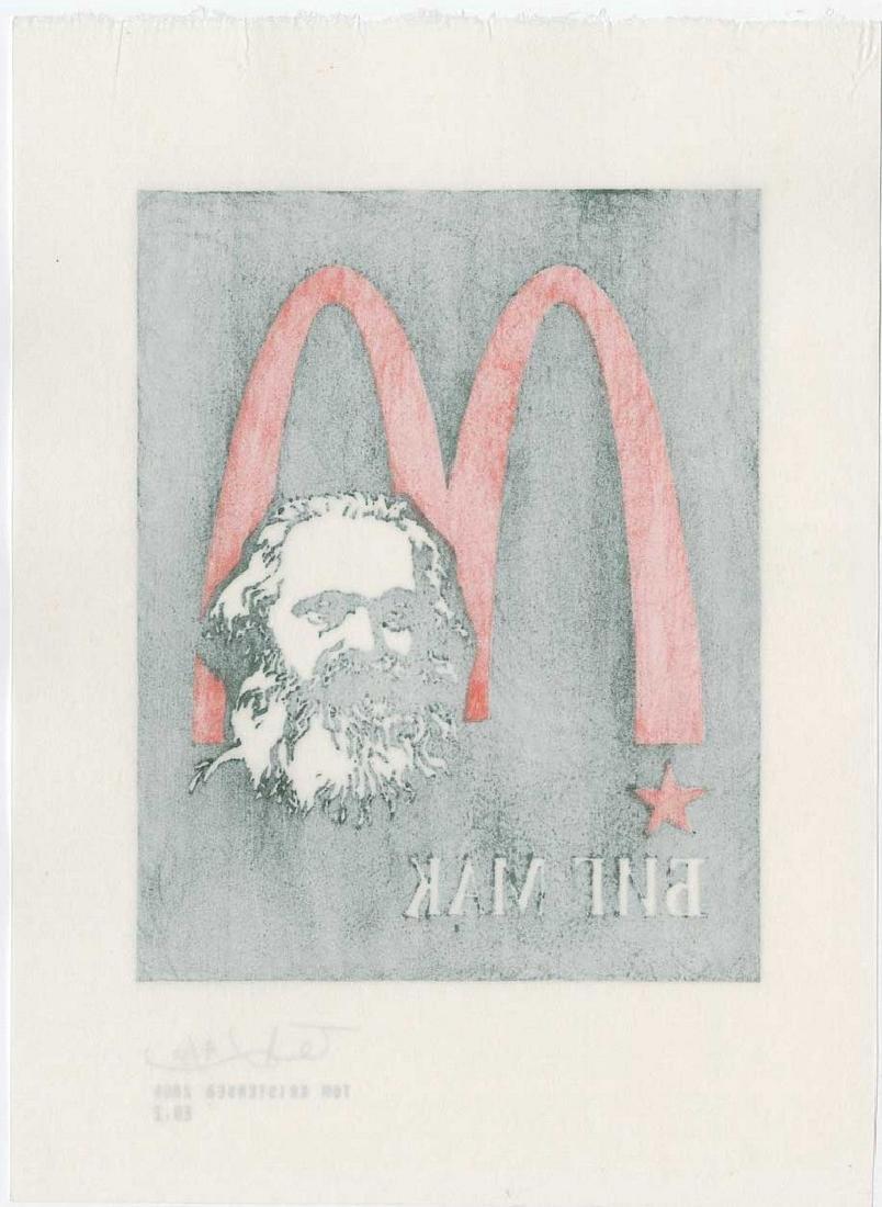 Tom Kristensen - M is for Marx (#4/30) Woodblock - 2