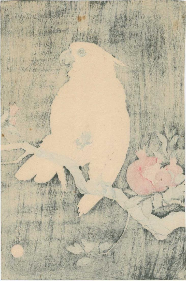 Koson - Cockatoo and Pomegranate Woodblock - 2