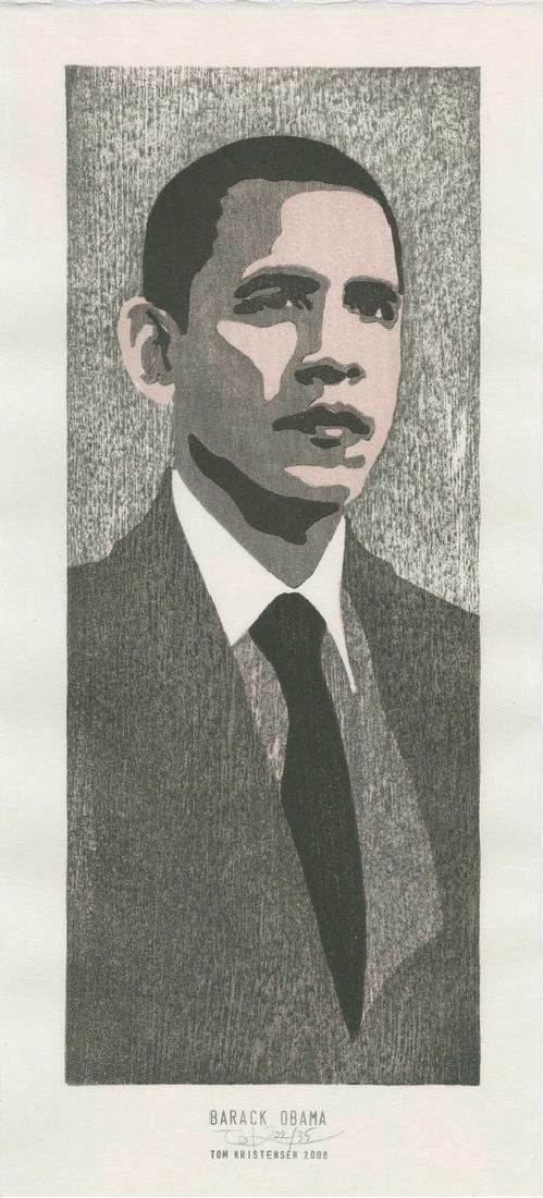 Tom Kristensen - Barack Obama (#22/35) Woodblock