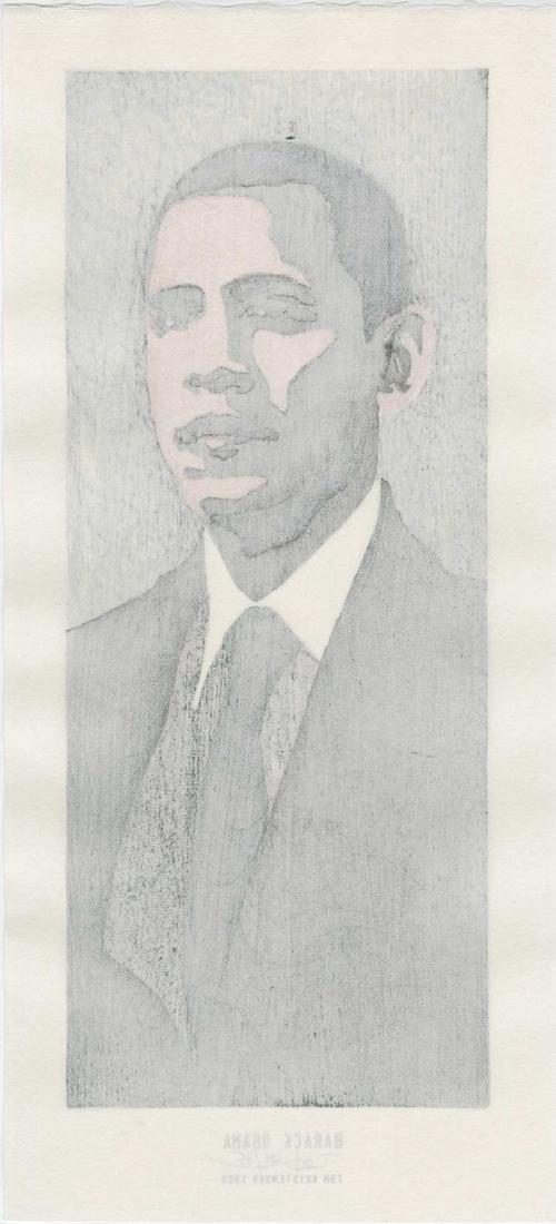 Tom Kristensen - Barack Obama (#22/35) Woodblock - 2