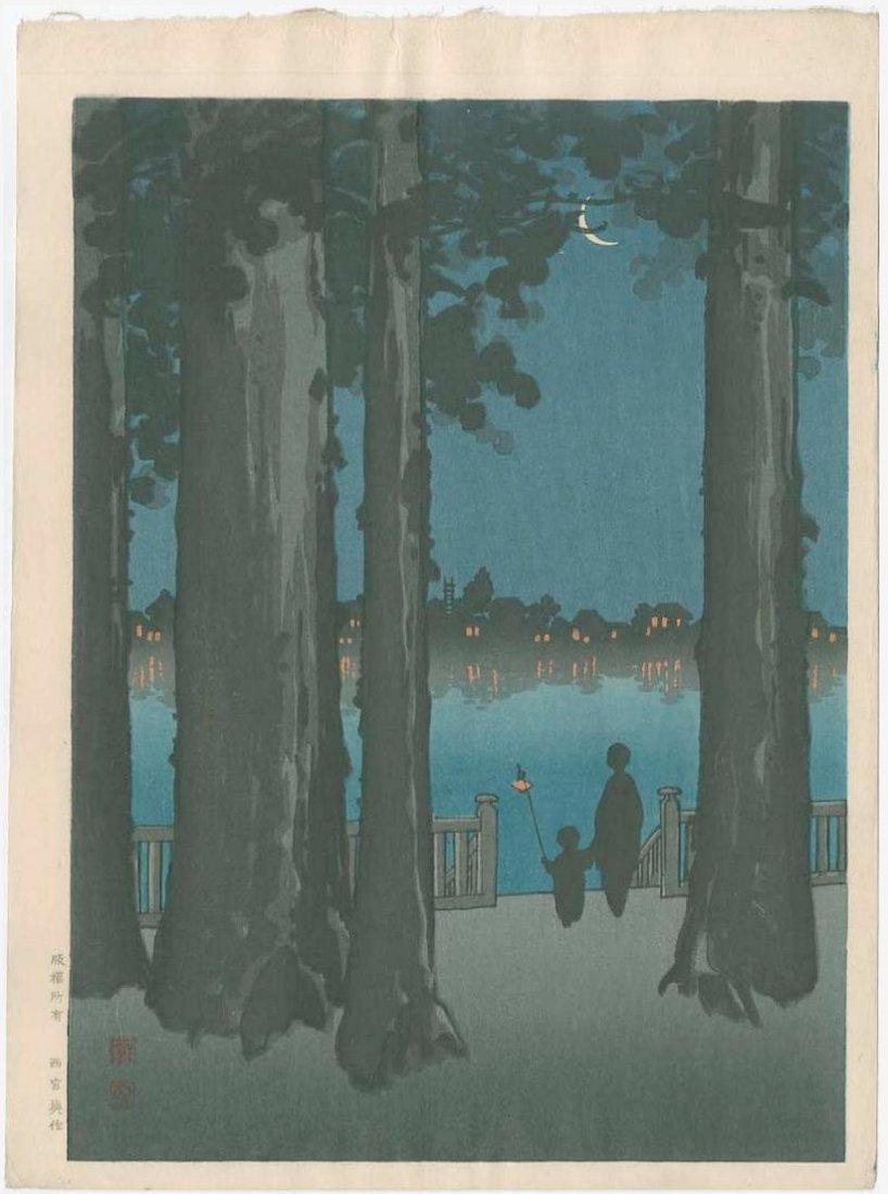 Koho Shoda -- Ueno Park Woodblock