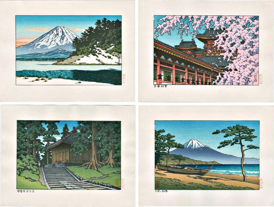 Hasui Kawase: 4 Koban-Sized Woodblock Prints