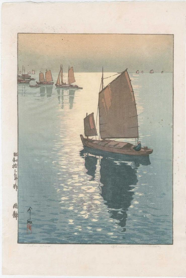 Hiroshi Yoshida - Calm Wind woodblock
