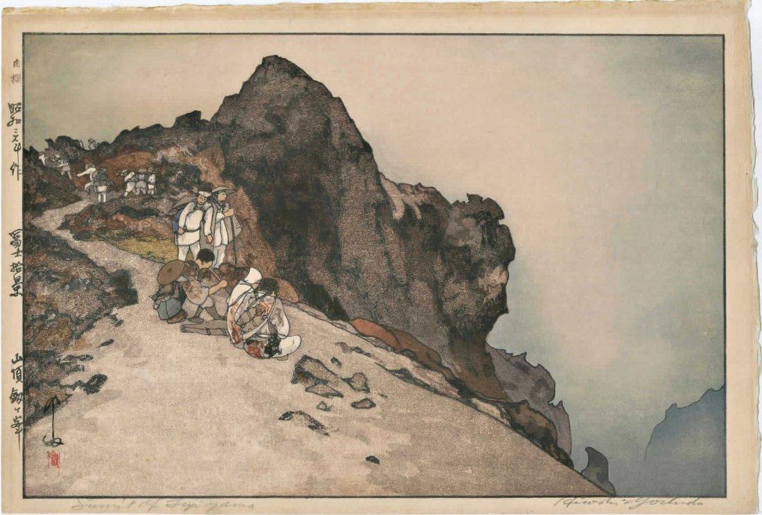 Yoshida Hiroshi -- Summit of Mt Fuji (Jizuri) Woodblock