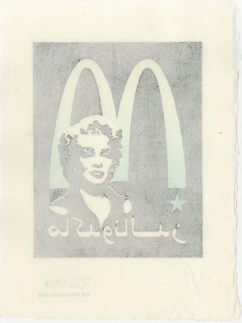 Tom Kristensen -- M is for Marilyn (#26/30) woodblock - 2