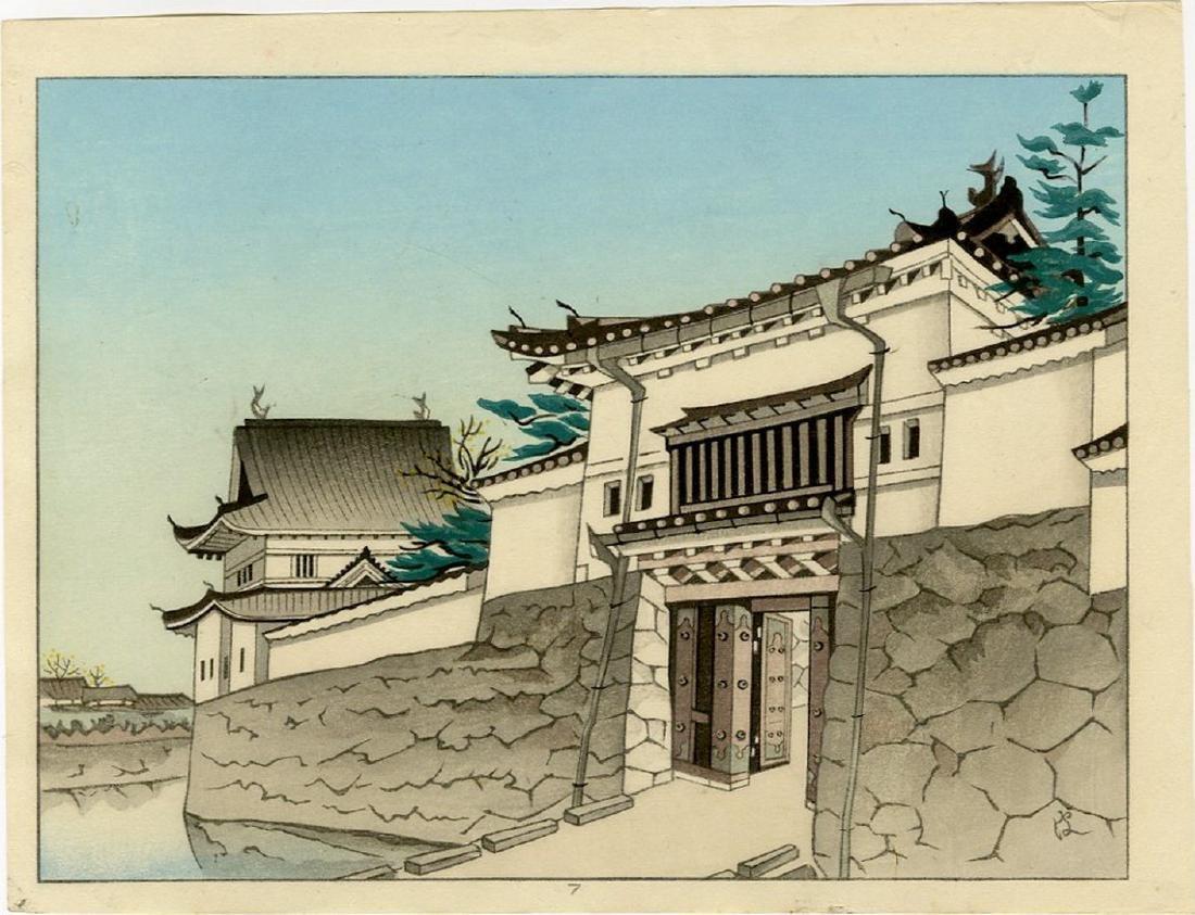 Unknown -- Niji Castle Gate woodblock