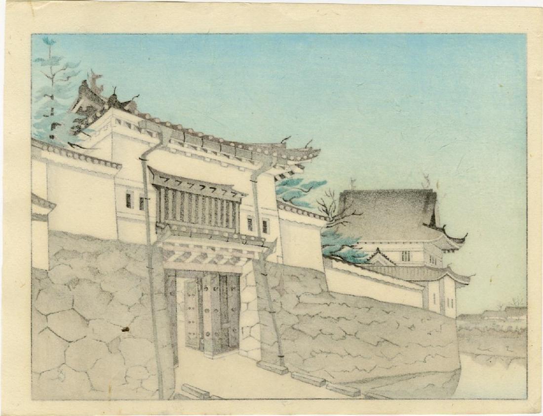 Unknown -- Niji Castle Gate woodblock - 2
