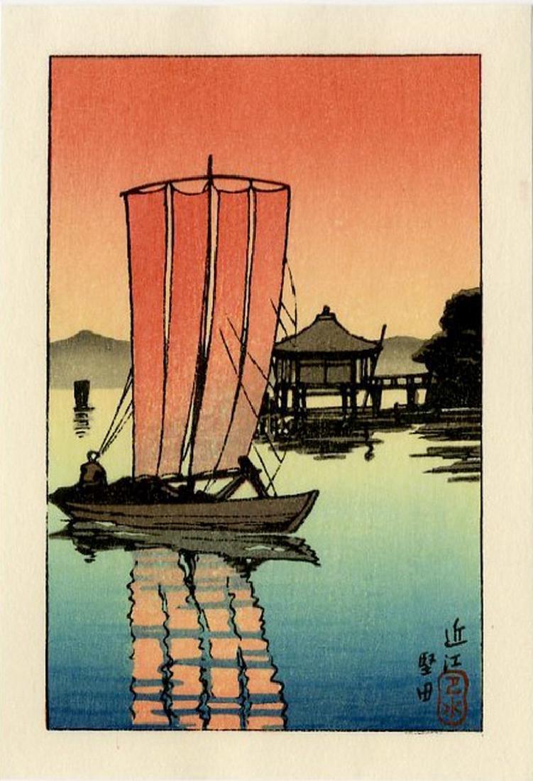 Hasui -- Katada + Konjikido + Terashima woodblock set - 3