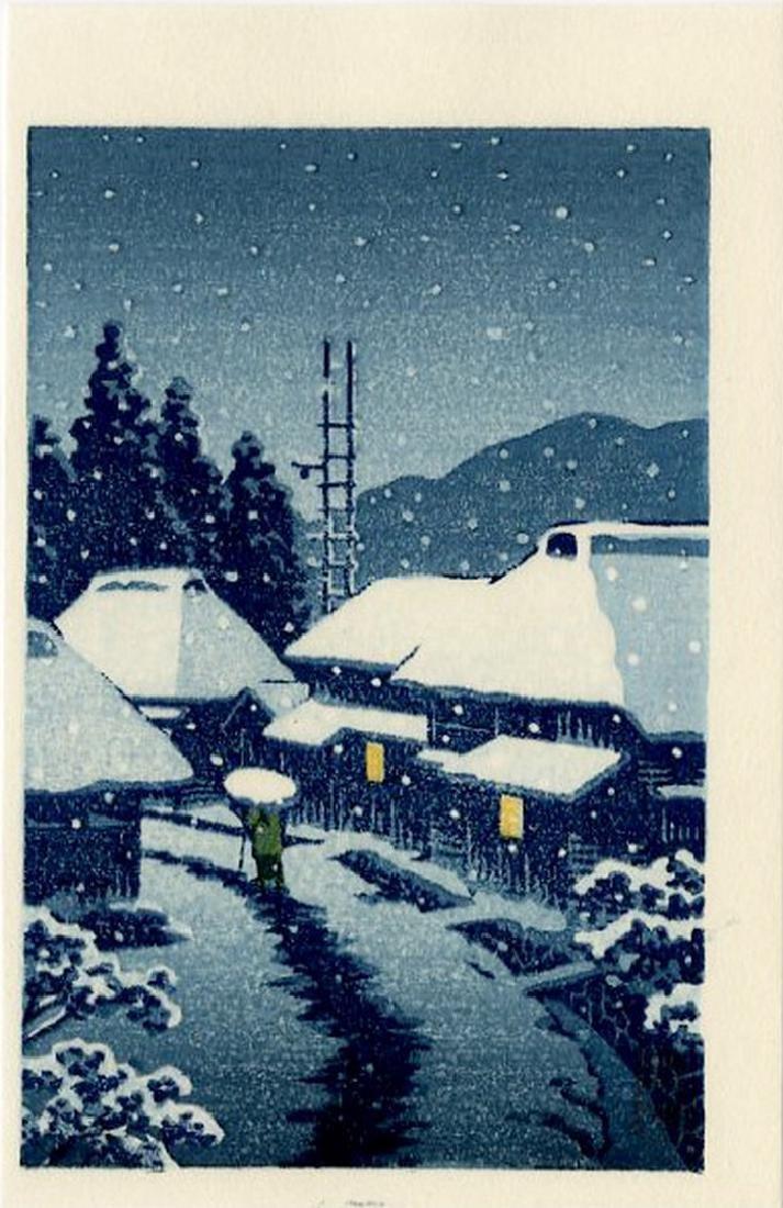 Hasui -- Katada + Konjikido + Terashima woodblock set - 5