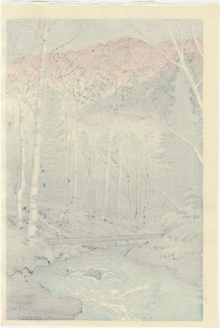 Takashi Ito: Takegawa River Woodblock - 2