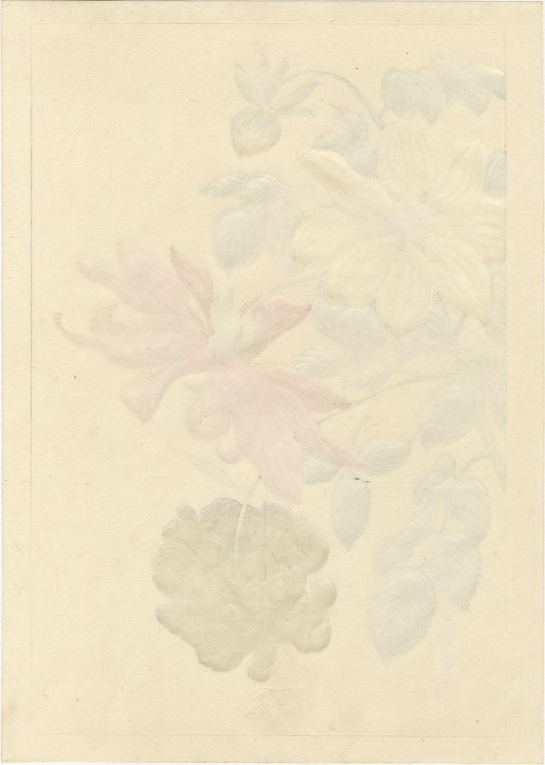 Hodo Nishimura: Dahlias Woodblock 1938 1st Edition - 2