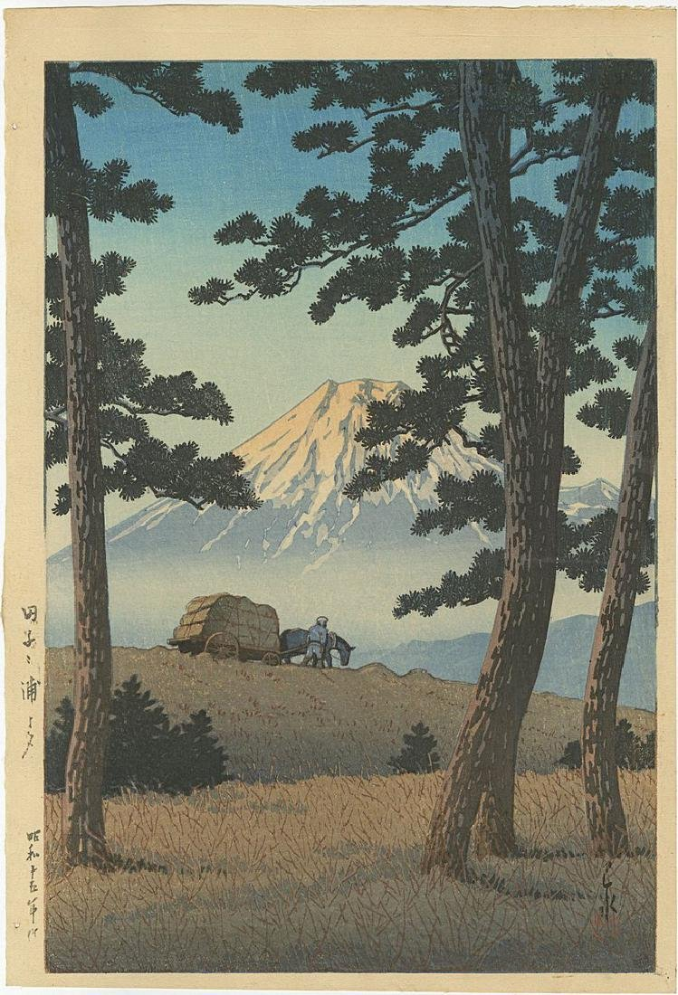 Hasui: Evening Tagonoura Woodblock Lifetime 6mm seal