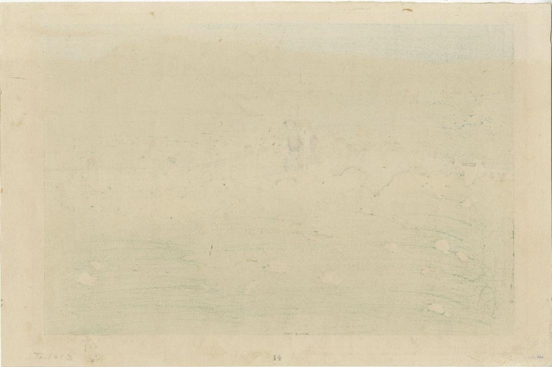 Hasui: Shiba Benton Pond Woodblock Early Edition - 2