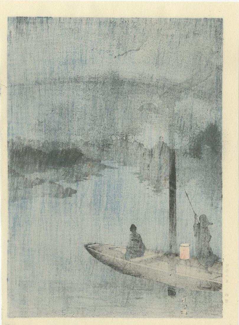 Koho Shoda: Lake Biwa Woodblock - 2