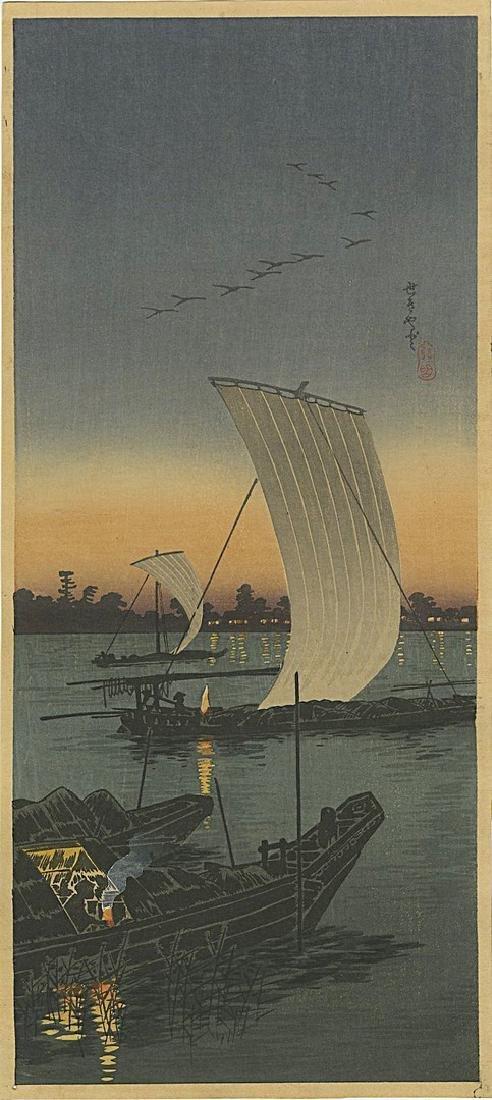 Shotei Takahashi (Hiroaki): Sekiyado Woodblock 1932