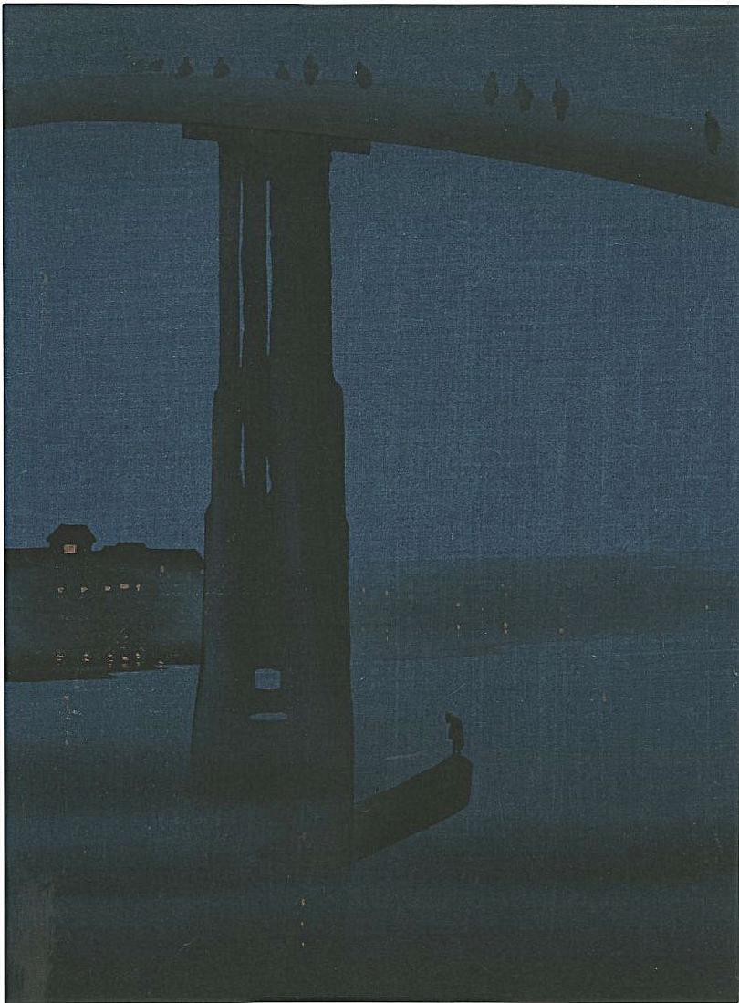 Eijiro Kobayashi: High Bridge Woodblock