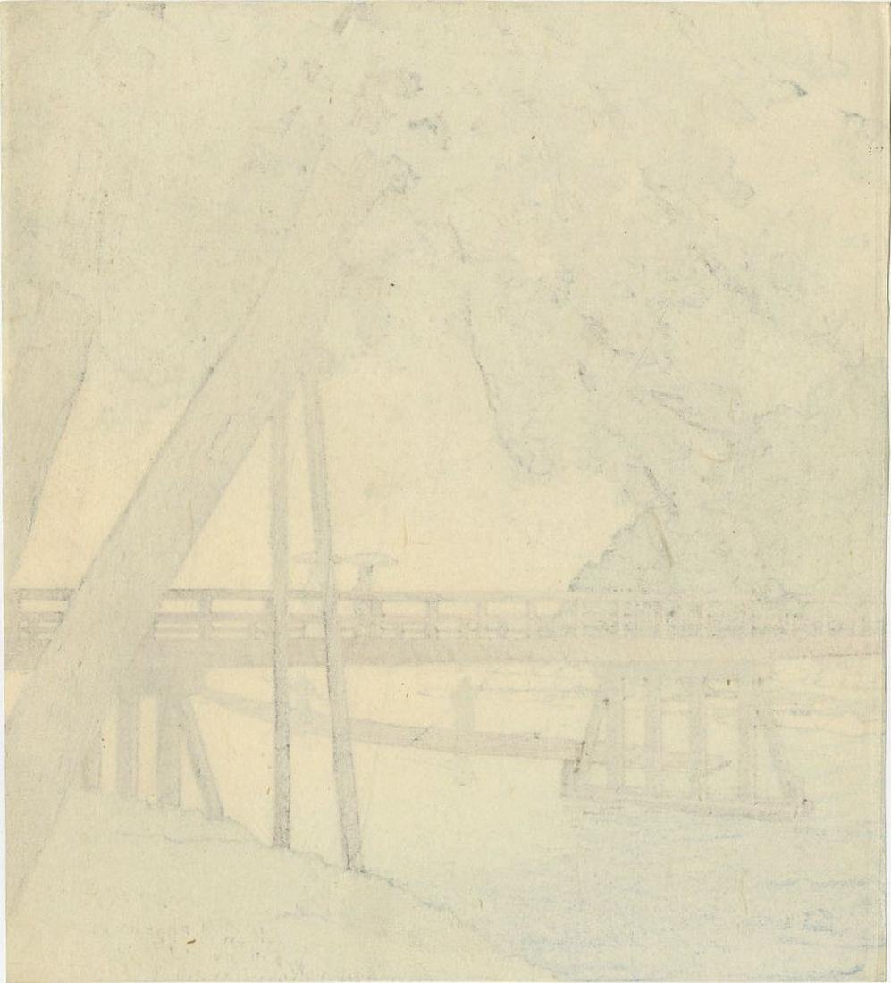 Not Signed: Togetsu-kyo Bridge Kyoto Woodblock - 2