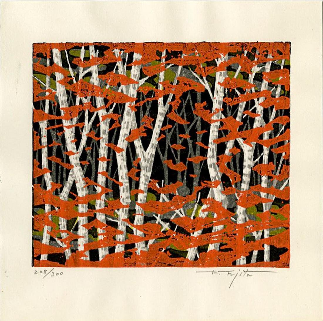 Fumio Fujita: Autumn Woodblock 1st Edition