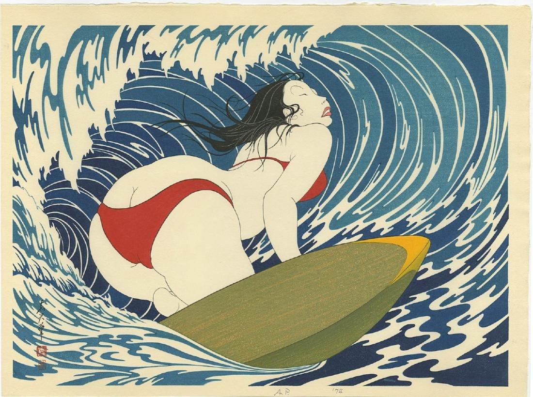 Yoshio Okada: Surfer Girl Woodbock 1st/only edition