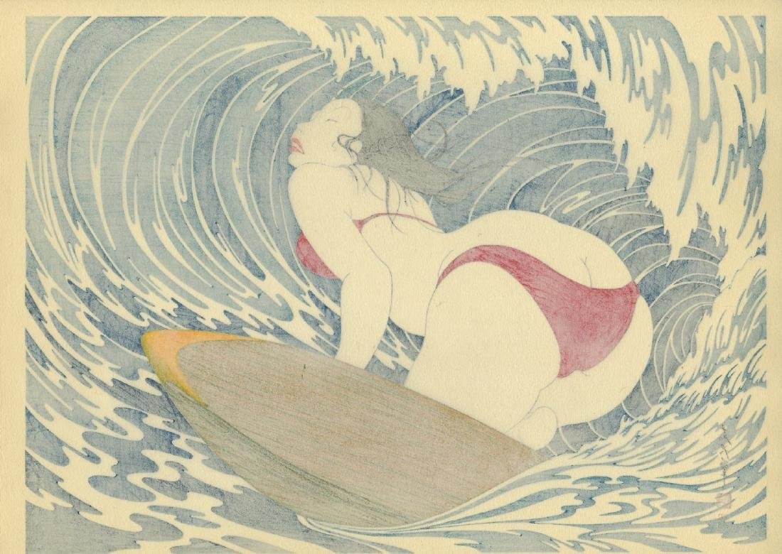Yoshio Okada: Surfer Girl Woodbock 1st/only edition - 2