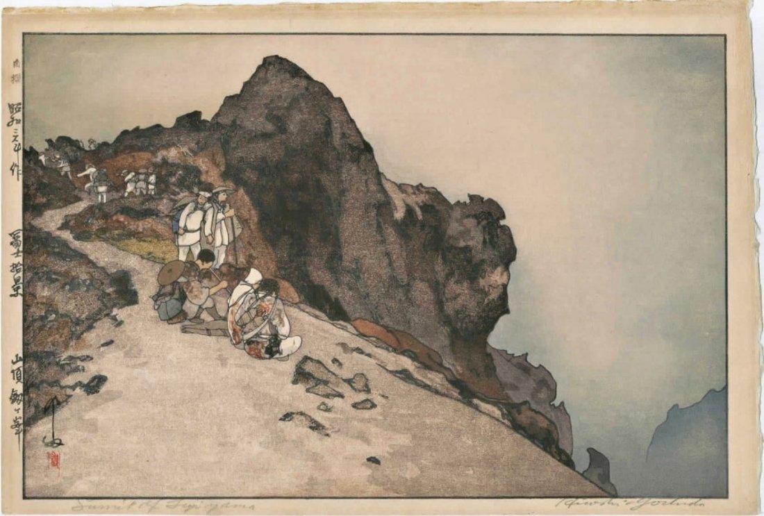 Hiroshi Yoshida: Summit of Mt. Fuji (Jizuri) Woodblock