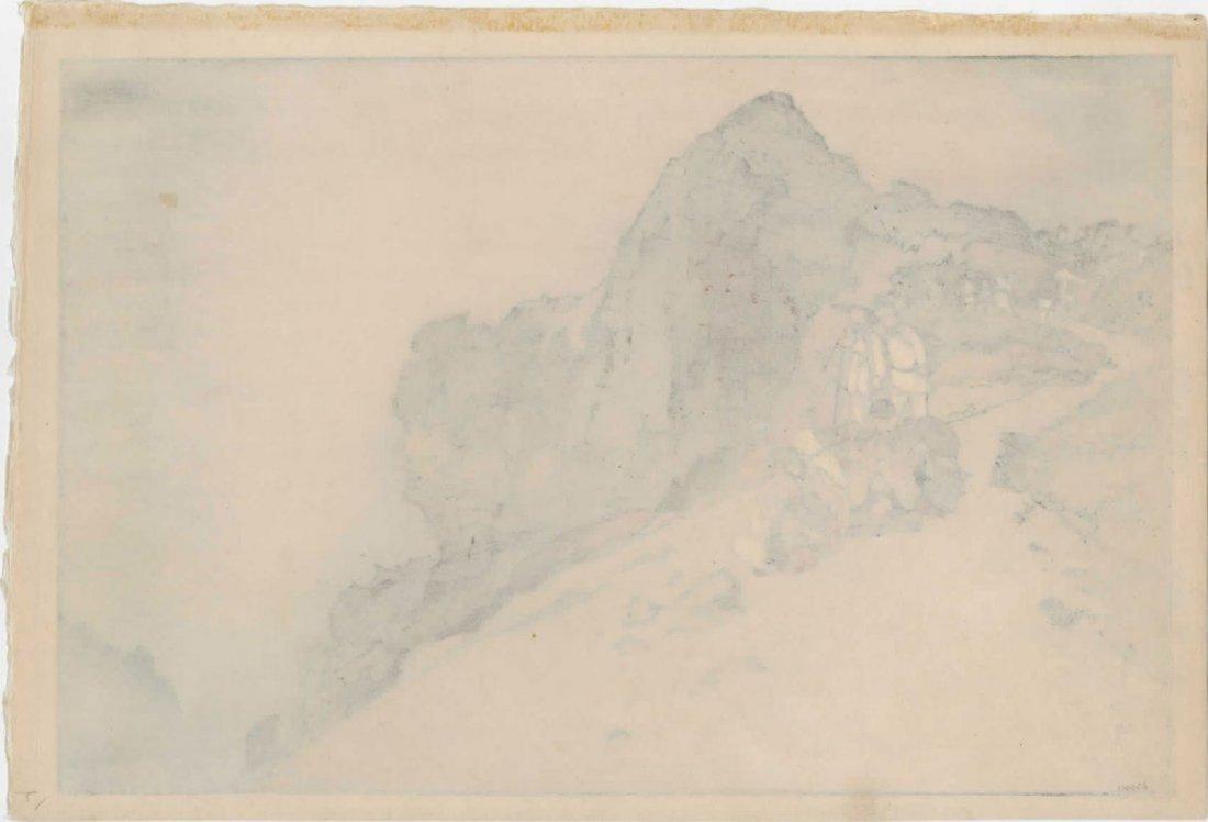 Hiroshi Yoshida: Summit of Mt. Fuji (Jizuri) Woodblock - 2