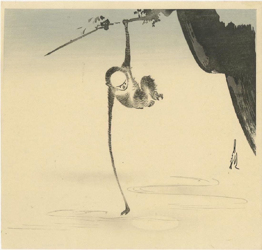 Ogata Gekko - Monkey Reaching for the Moon woodblock