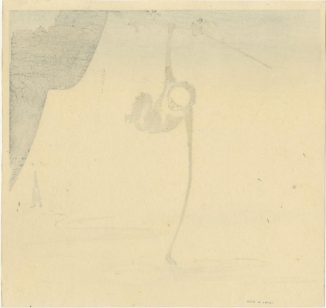 Ogata Gekko - Monkey Reaching for the Moon woodblock - 2