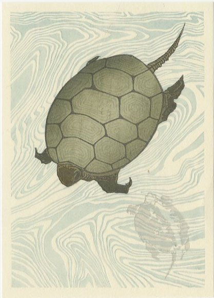 (After) Hokusai - SET 2 Carp + Turtles woodblocks - 3