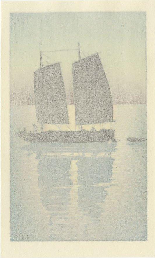 (After) Hiroshi Yoshida - Sailing Boat, Day woodblock - 2