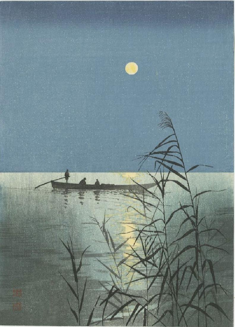 Koho Shoda - Moonlit Sea (Night Scenes) woodblock