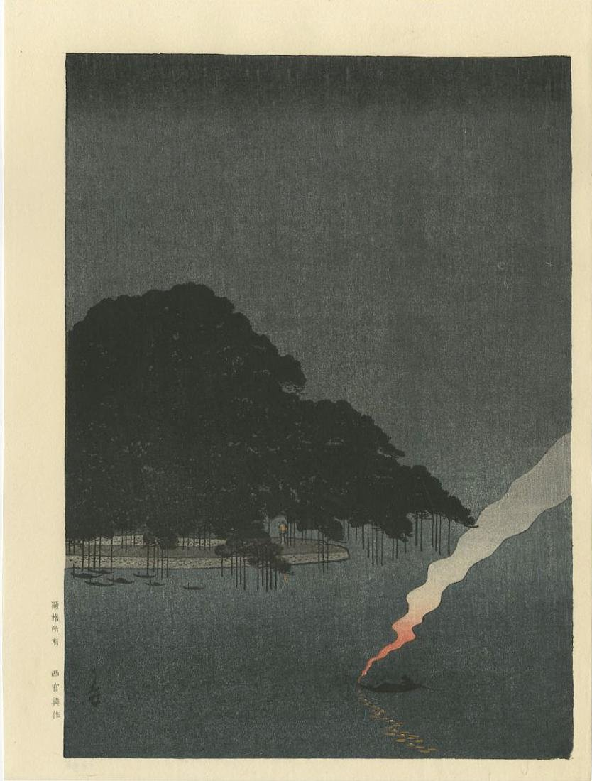 Night Scenes - PAIR: Pine Tree Karasaki + Sumida River - 2