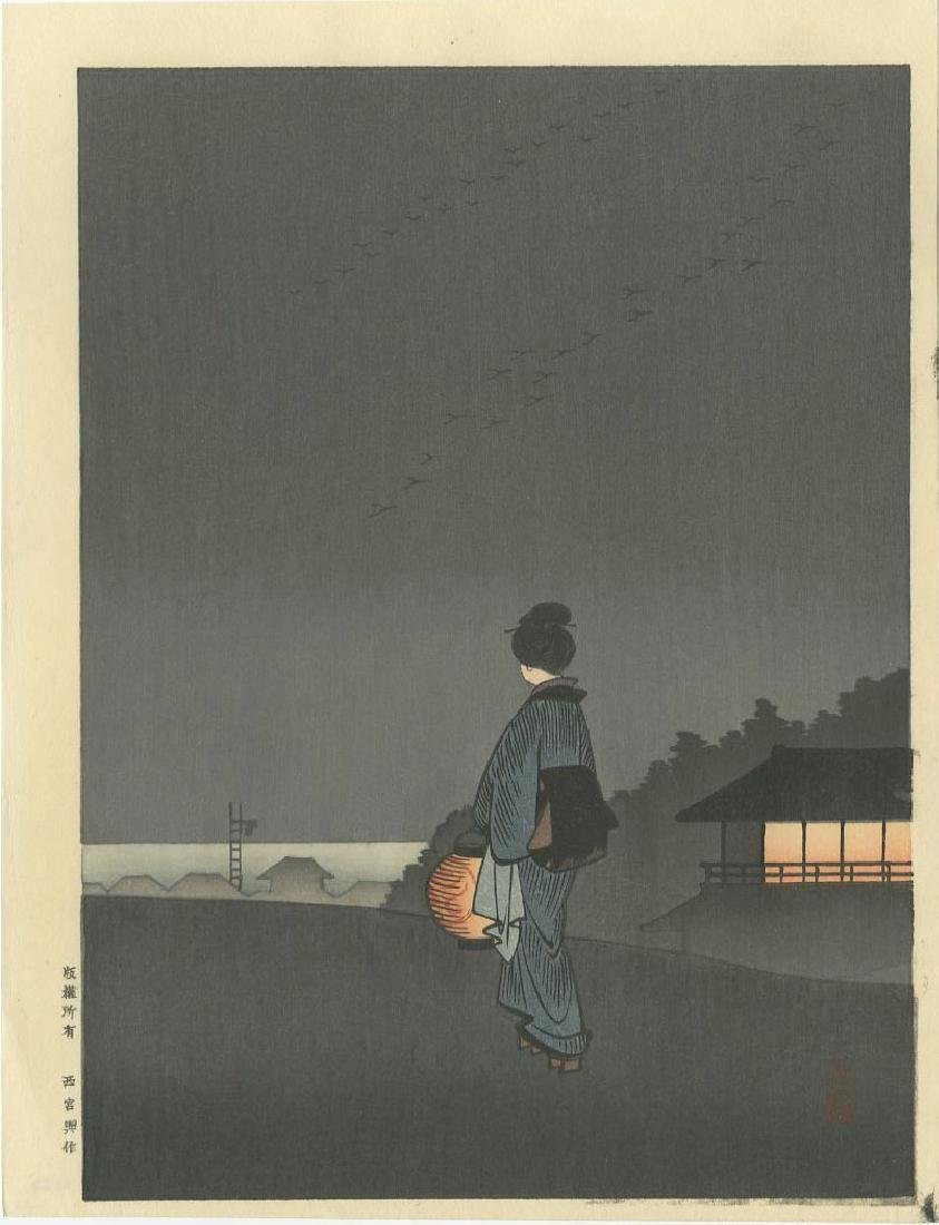 Night Scenes - PAIR: Pine Tree Karasaki + Sumida River - 3