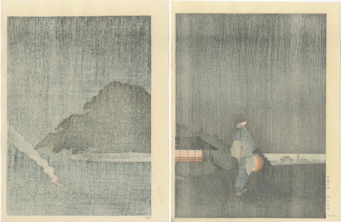 Night Scenes - PAIR: Pine Tree Karasaki + Sumida River - 4