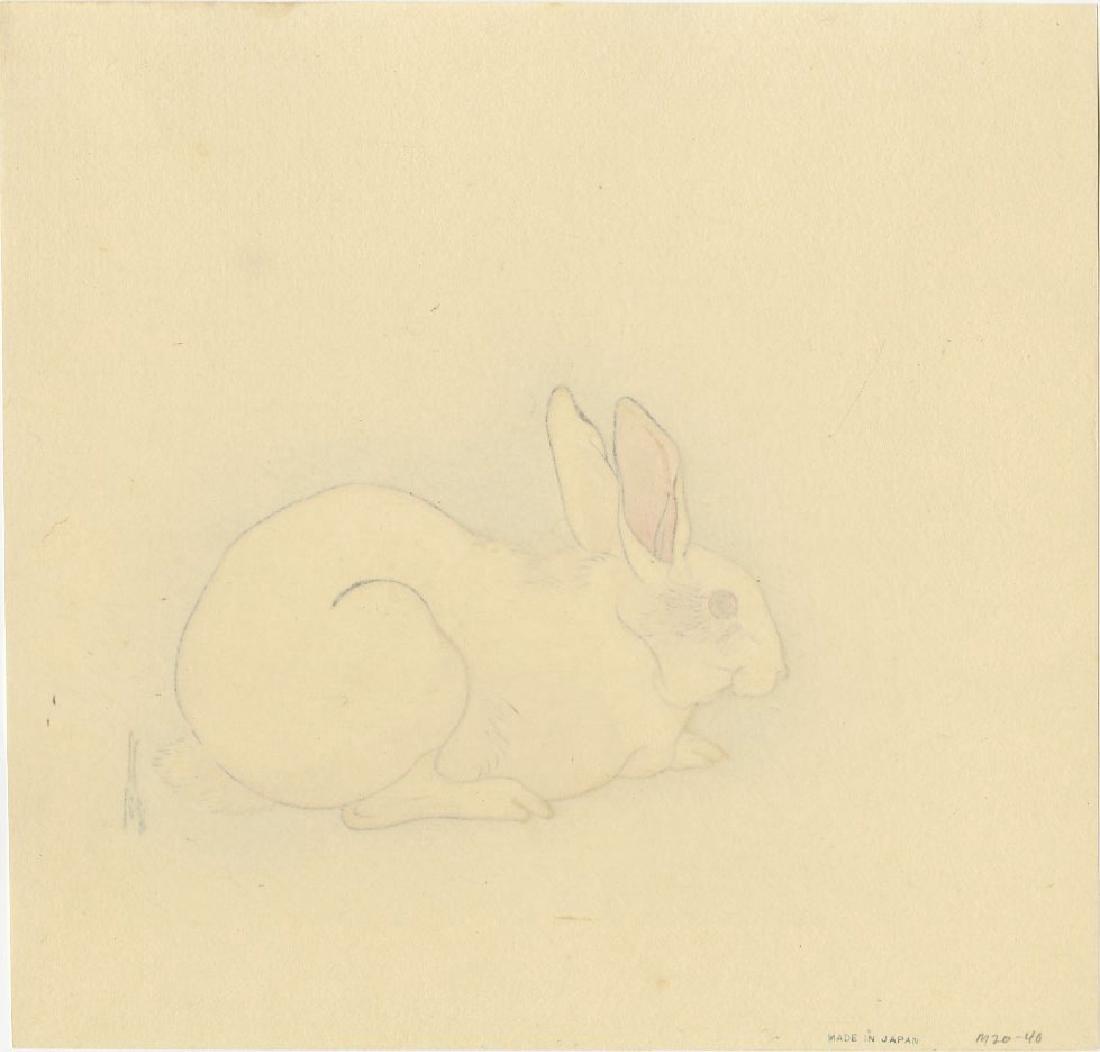 Ogata Gekko - White Rabbit  woodblock (Muller Estate) - 2