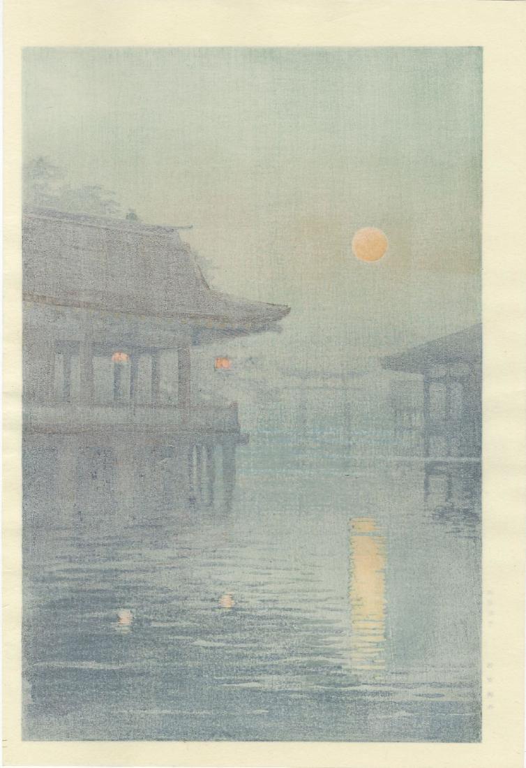 Ito Yuhan - Moon Over Miyajima  woodblock - 2