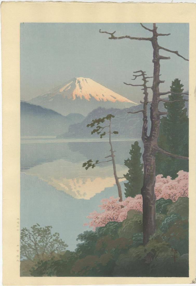 Ito Yuhan - Fuji from Taganoura woodblock