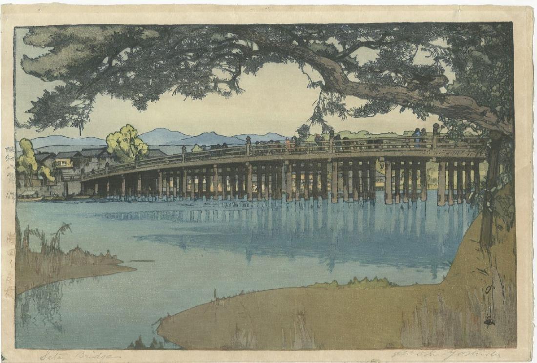 Hiroshi Yoshida - Seta Bridge woodblock
