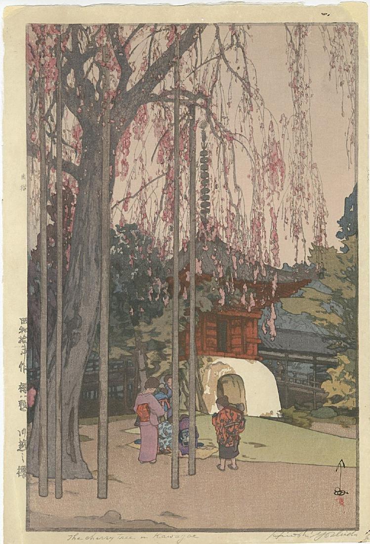 Hiroshi Yoshida - Cherry Tree Kawagoe JIZURI woodblock