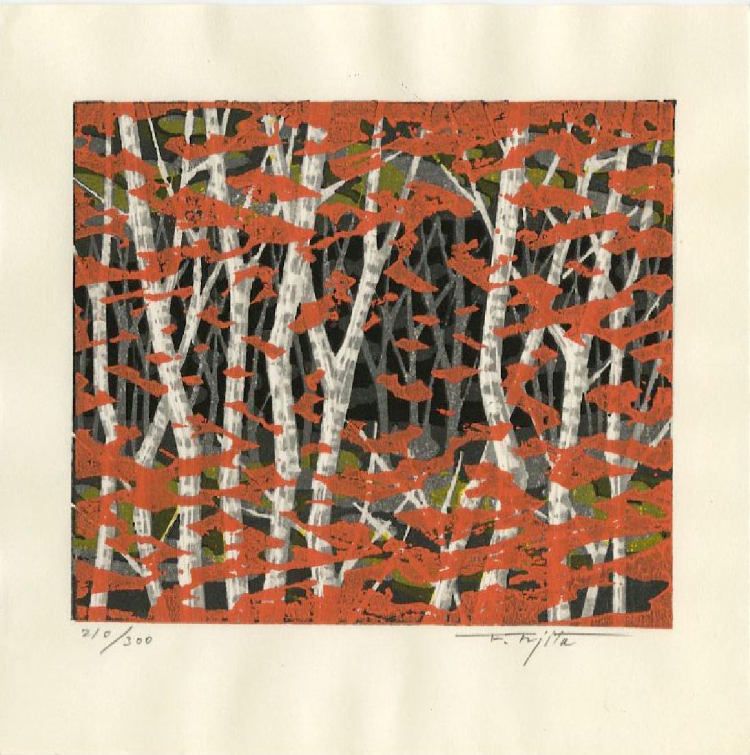 Fujita Fumio: Autumn woodblock 1st Ed. 1990