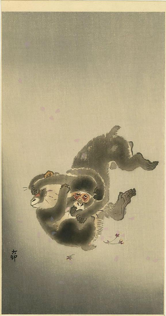 Koson Ohara: Two Monkey Themed Woodblocks - 2