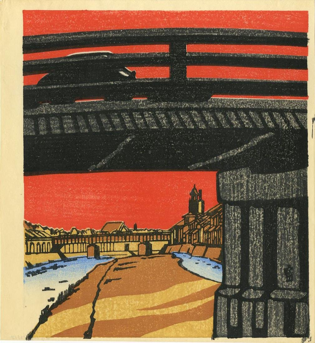 Tokuriki Tomikichiro: Sanjo Bridge in Summer  1950s