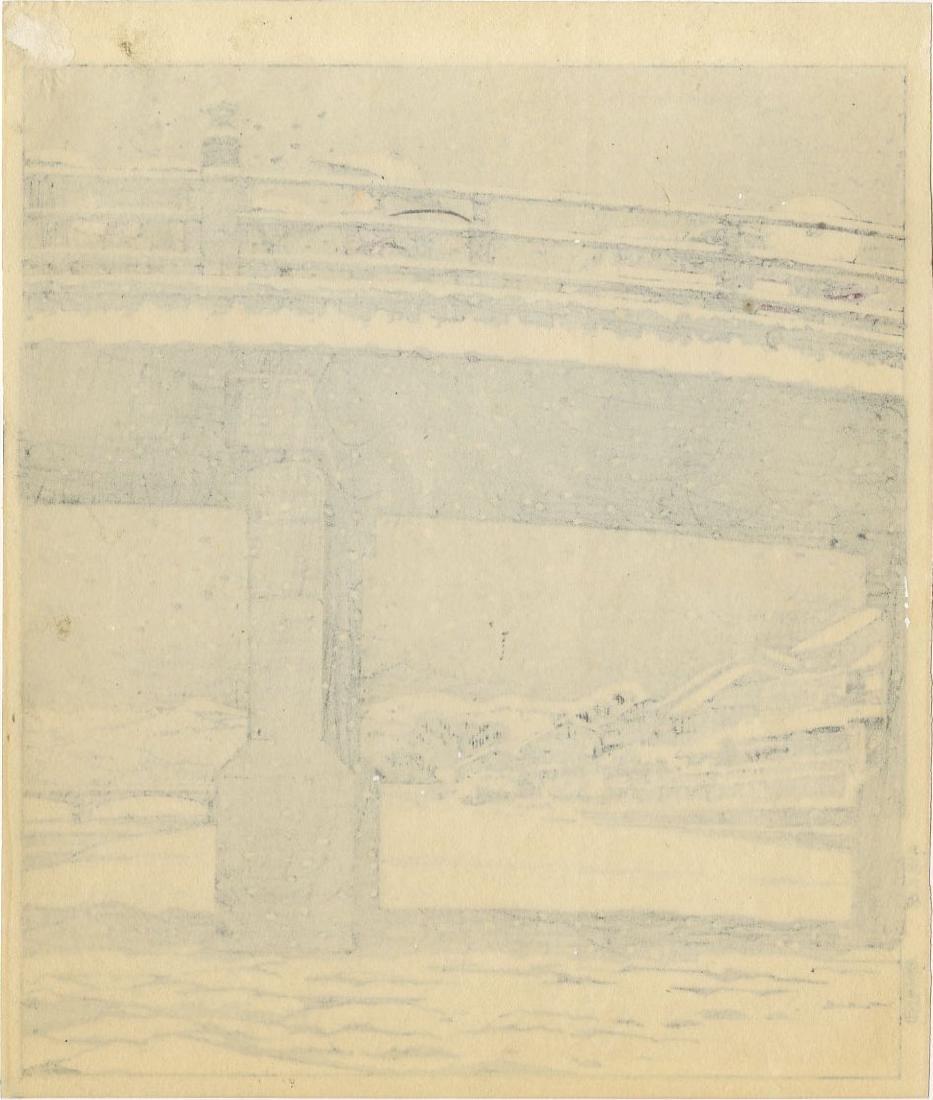 Tokuriki Tomikichiro: Sanjo Bridge in Winter 1950s - 2