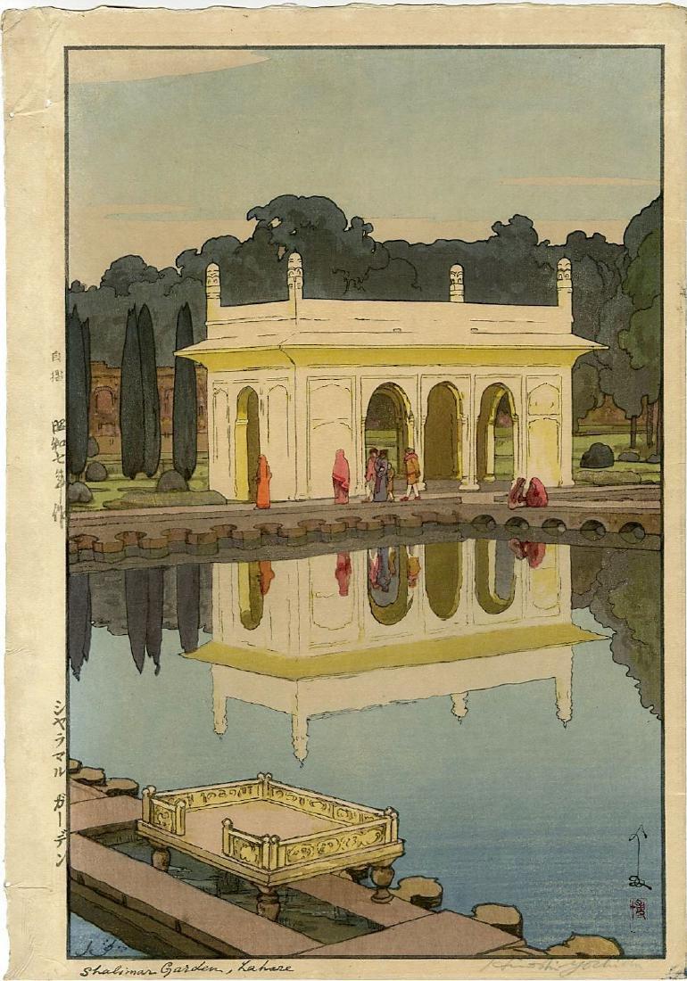 Yoshida: Shalimar 1st Ed. Jizuri seal  Woodblock 1931