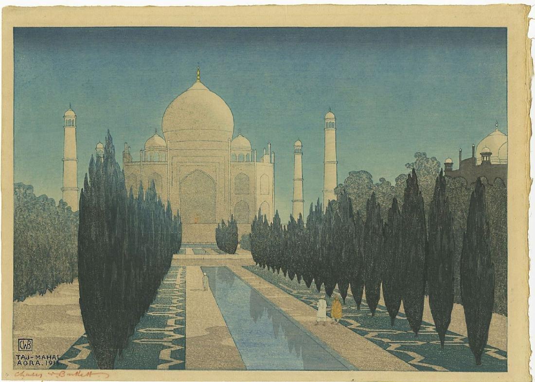 Charles W. Bartlett: Taj Mahal woodblock 1st Ed. 1916